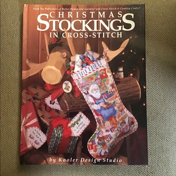 Holiday Christmas Stockings In Crossstitch Poshmark